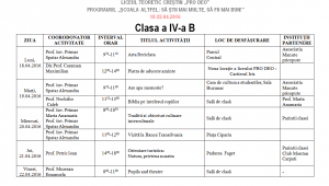 Clasa a IV-a B