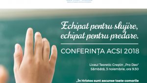 Conferința ACSI 2018 – Poze